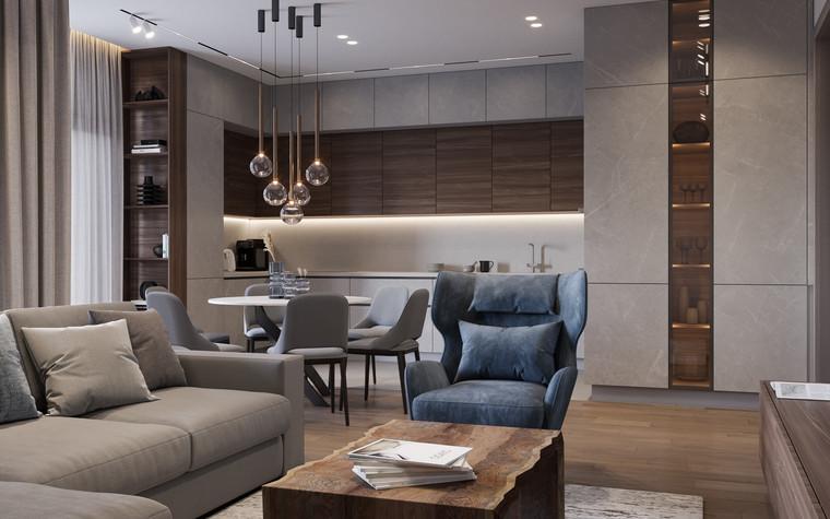 Квартира. гостиная из проекта Дизайн-проект квартиры, ЖК Зиларт, фото №104140