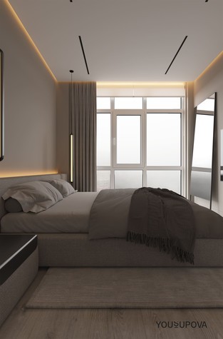 Квартира. спальня из проекта S028, фото №104181