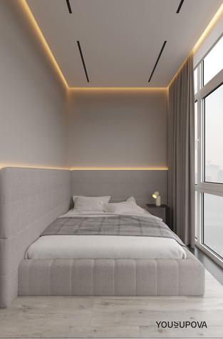 Квартира. спальня из проекта S028, фото №104183