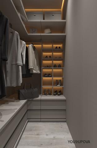 Квартира. гардеробная из проекта S028, фото №104184