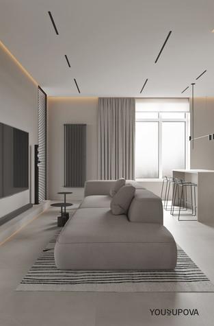 Квартира. гостиная из проекта S028, фото №104174