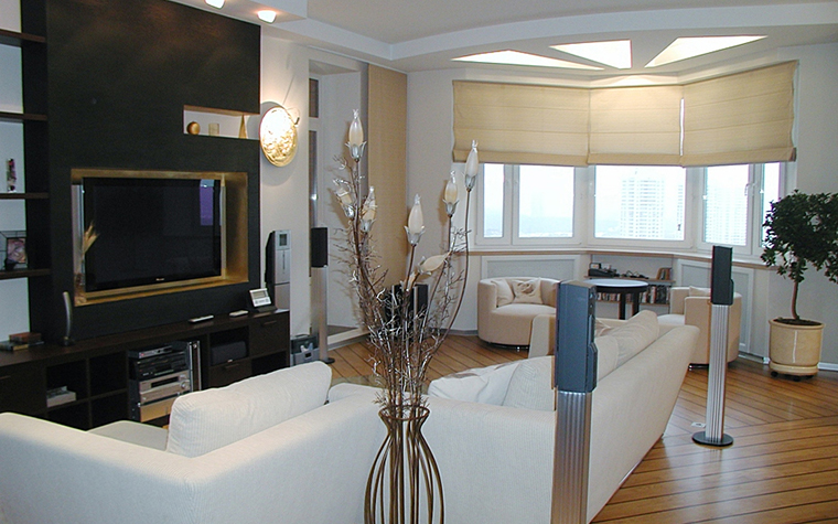 Квартира. гостиная из проекта , фото №10691