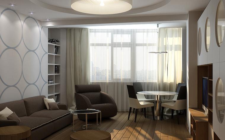 Квартира. гостиная из проекта , фото №10692