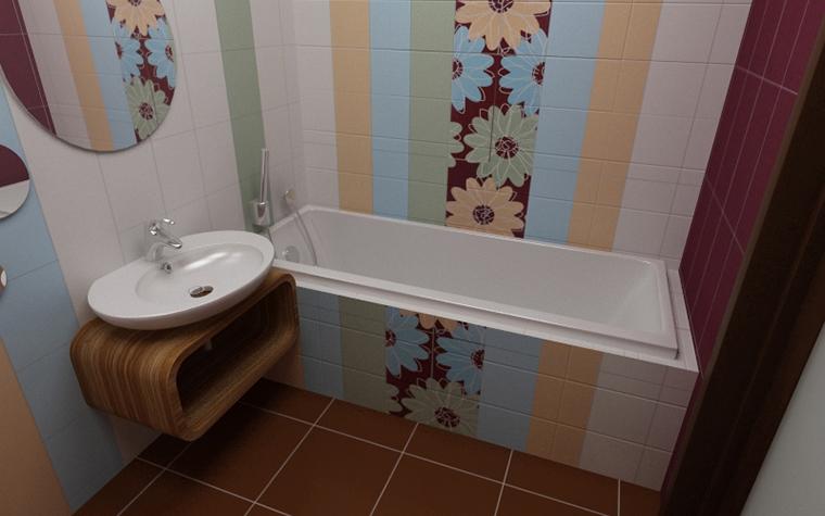 Квартира. ванная из проекта , фото №10933
