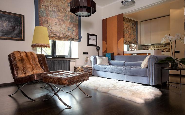 Квартира. гостиная из проекта , фото №11353
