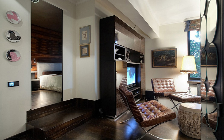 Квартира. гостиная из проекта , фото №11381