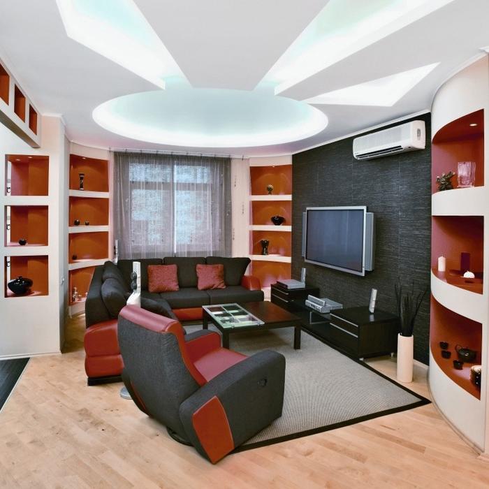 Квартира. гостиная из проекта , фото №11393