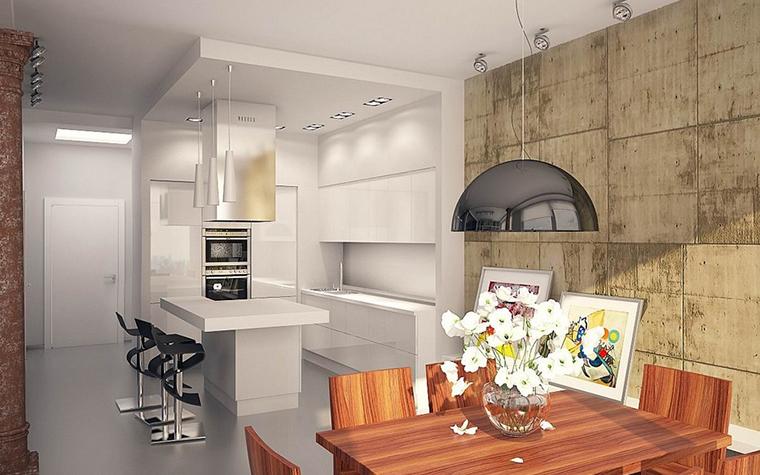 Квартира. кухня из проекта , фото №11522