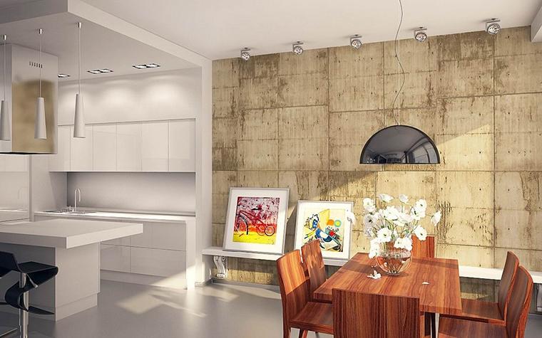 Квартира. столовая из проекта , фото №11519