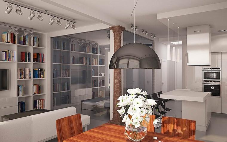 Квартира. столовая из проекта , фото №11520