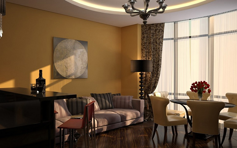 интерьер гостиной - фото № 11553