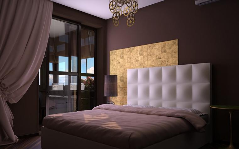 Квартира. спальня из проекта , фото №11546