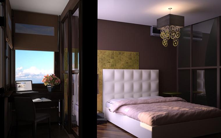Квартира. спальня из проекта , фото №11547