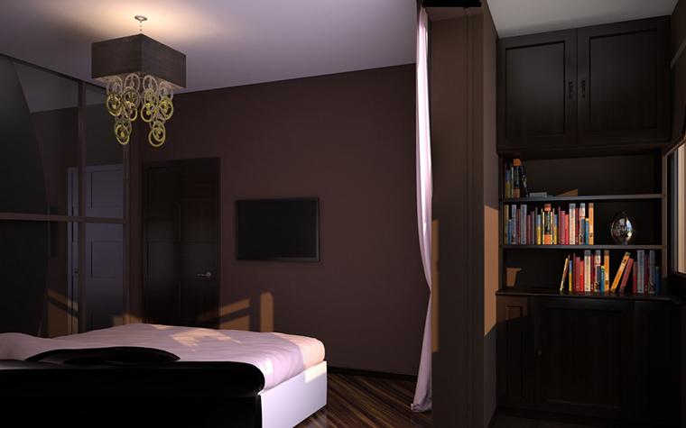 Квартира. спальня из проекта , фото №11548