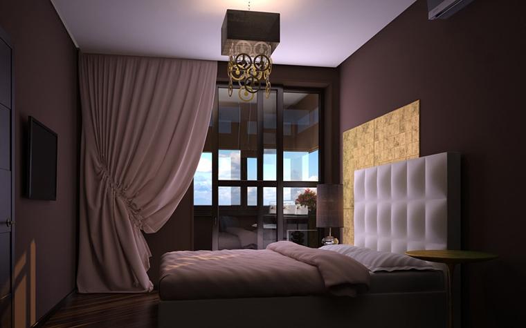 Квартира. спальня из проекта , фото №11549
