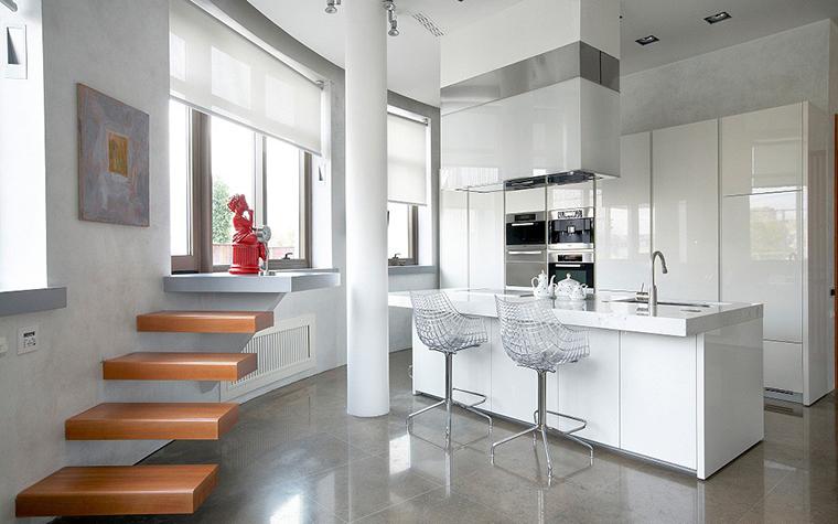 барная стойка в интерьере маленькой кухни