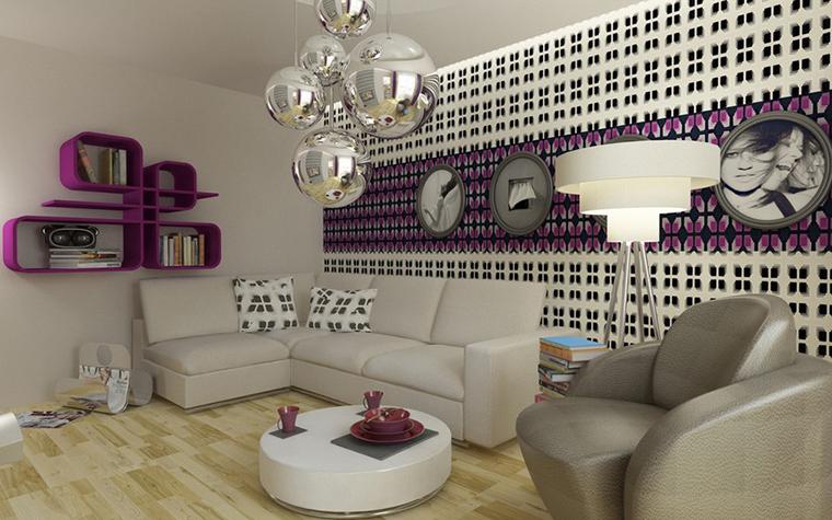 Квартира. гостиная из проекта , фото №12080