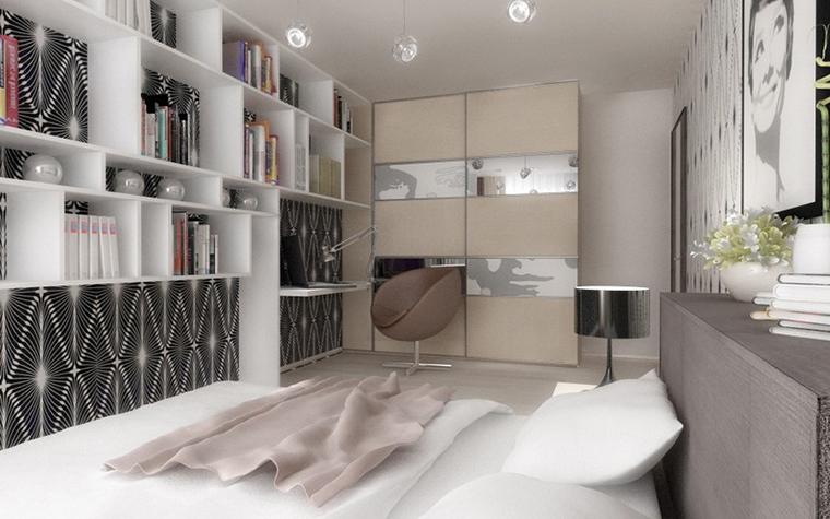 Квартира. спальня из проекта , фото №12083