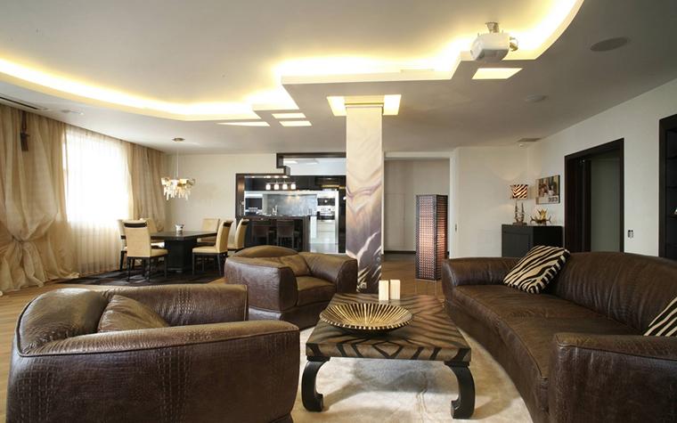 интерьер гостиной - фото № 12447