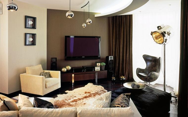 Квартира. гостиная из проекта , фото №12755
