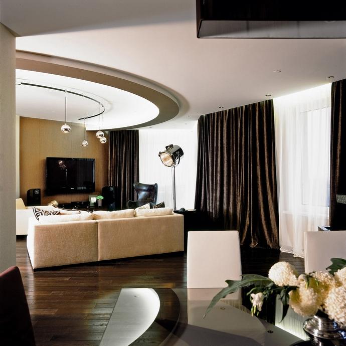 Квартира. гостиная из проекта , фото №12752
