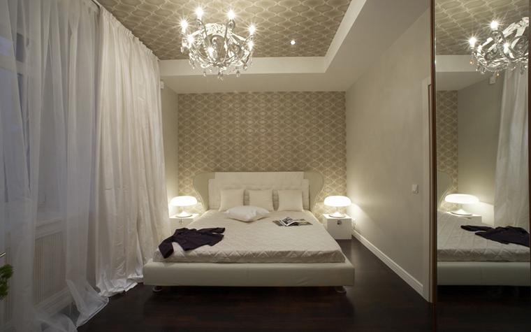 Квартира. спальня из проекта , фото №12773