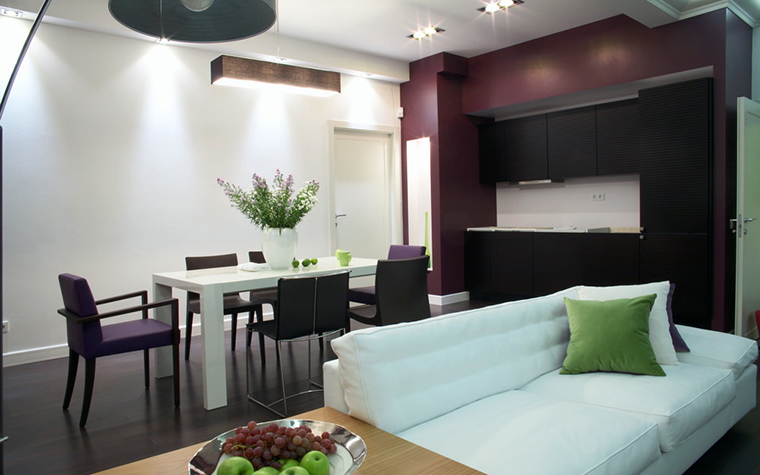Квартира. гостиная из проекта , фото №12770