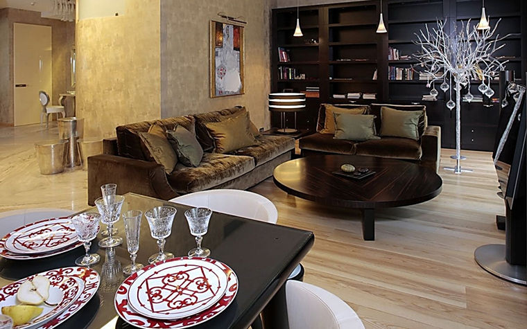 Фото № 12848 гостиная  Квартира