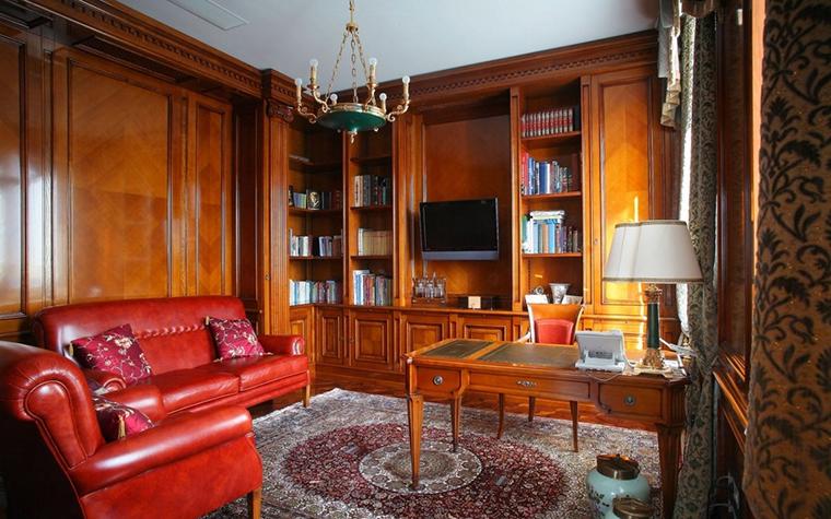 Фото № 12906 кабинет библиотека  Квартира