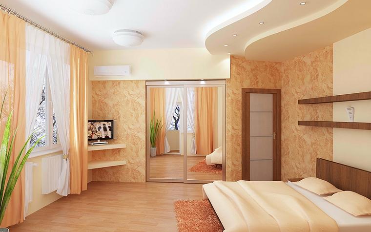 Квартира. спальня из проекта , фото №13079