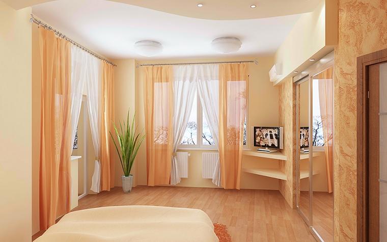 Квартира. спальня из проекта , фото №13076