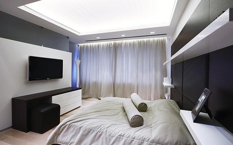 Квартира. спальня из проекта , фото №13528