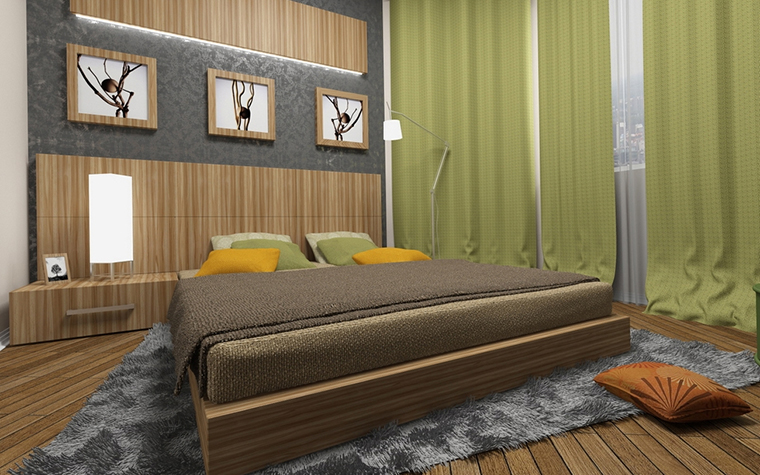 интерьер спальни - фото № 13638