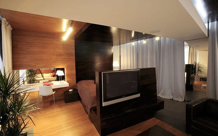Квартира. спальня из проекта , фото №13740