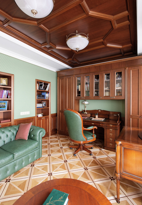 Фото № 14472 кабинет библиотека  Квартира
