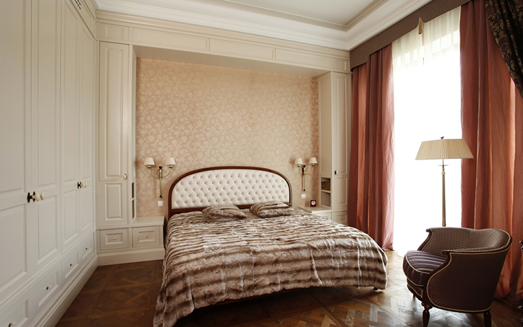 Квартира. спальня из проекта , фото №15281