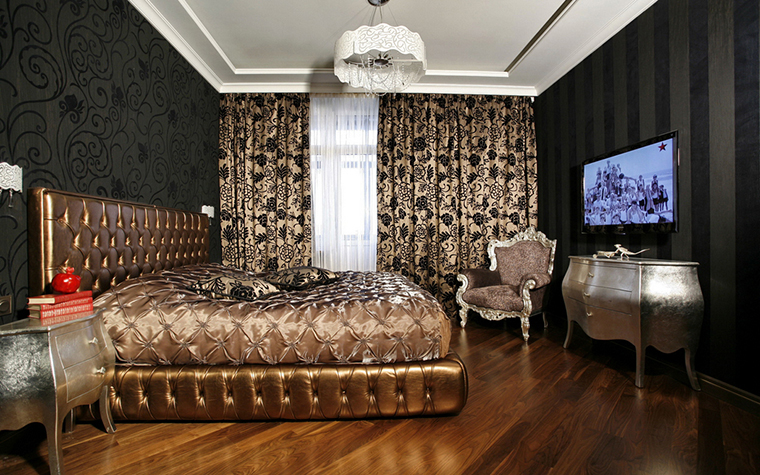 Квартира. спальня из проекта , фото №15823