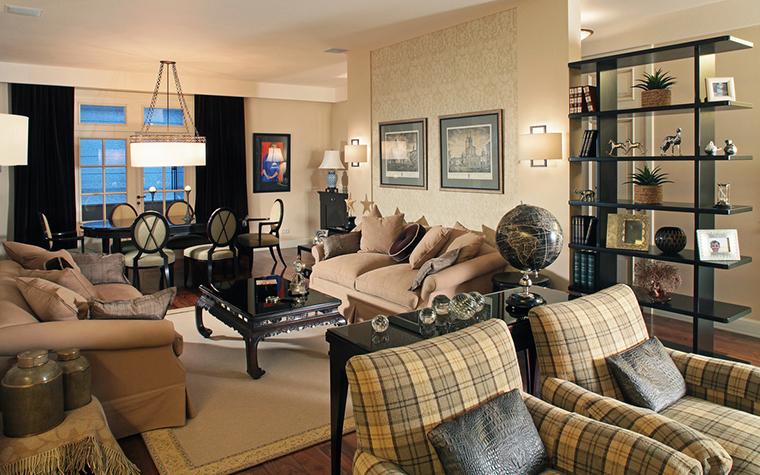 интерьер гостиной - фото № 15968