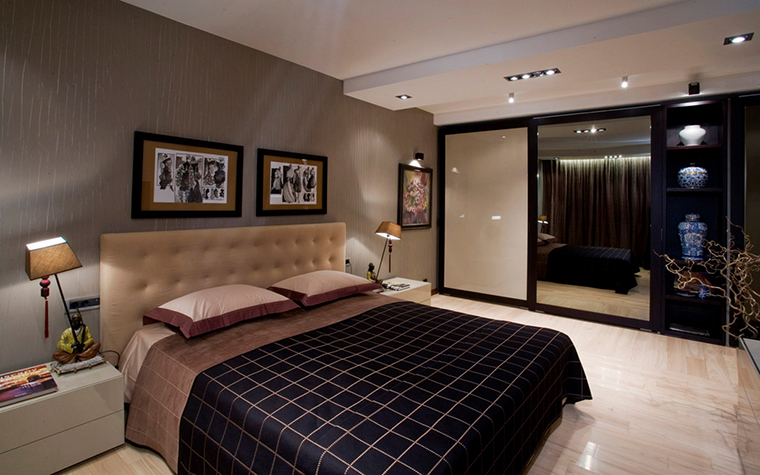 Квартира. спальня из проекта , фото №16560