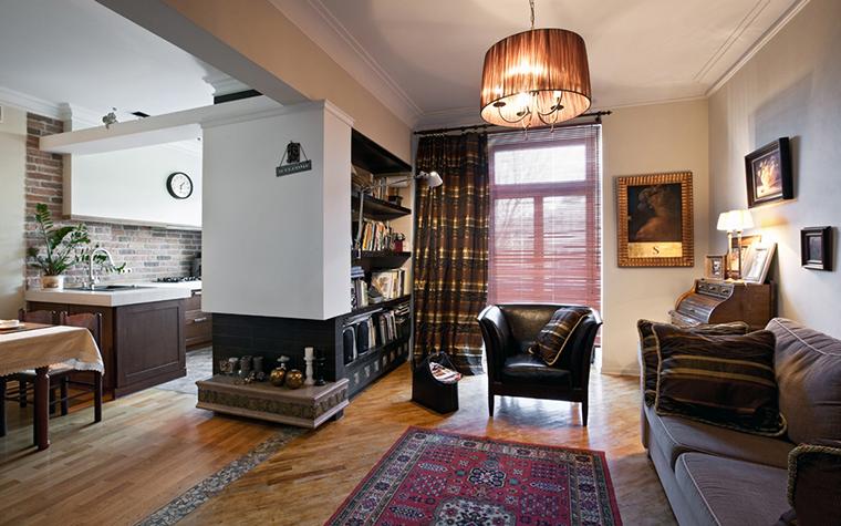 Квартира. гостиная из проекта , фото №17467