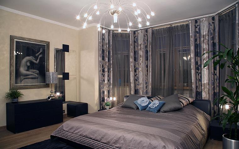 Квартира. спальня из проекта , фото №20823
