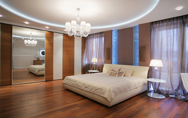 Квартира. спальня из проекта , фото №20856