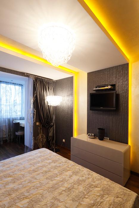 Квартира. спальня из проекта , фото №21915