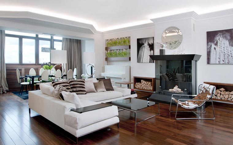 Квартира. гостиная из проекта , фото №22561