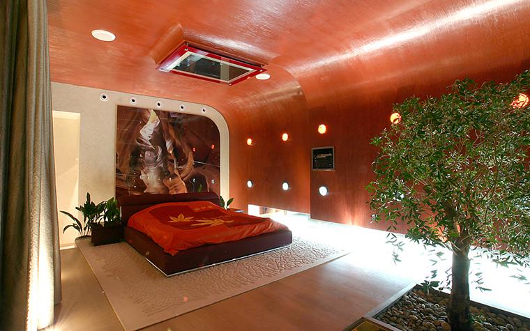 <p>Автор проекта: Сергей Эстрин.</p> <p>Восточные фантазии и гнутые стены - это современно!</p>