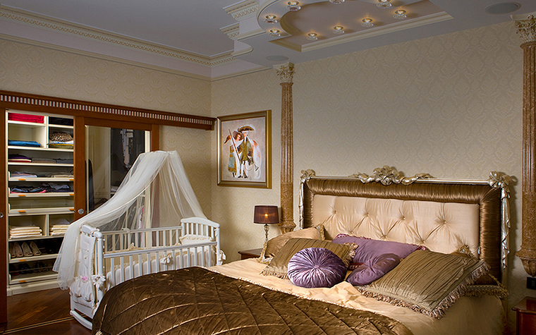 Квартира. спальня из проекта , фото №22852