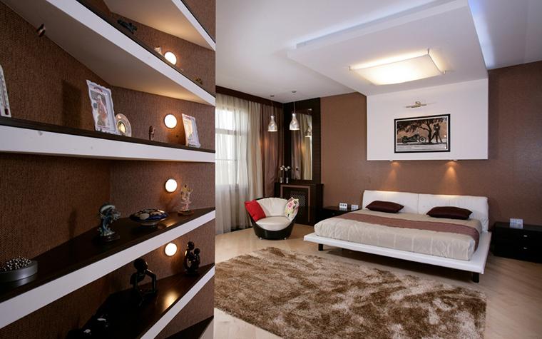 Квартира. спальня из проекта , фото №23852