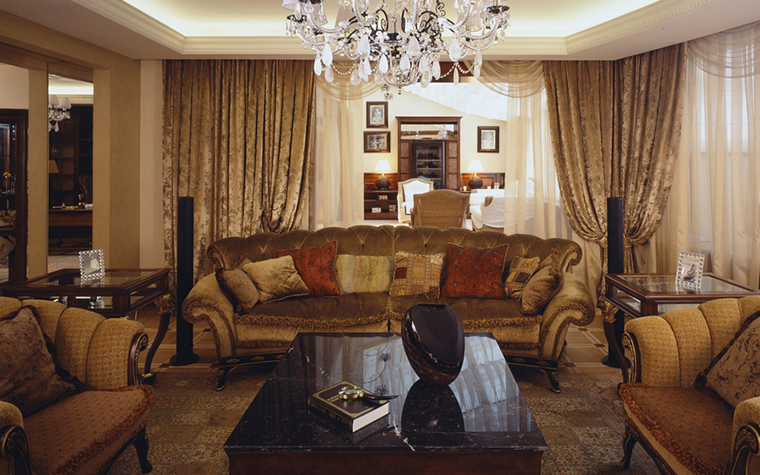 интерьер гостиной - фото № 25238