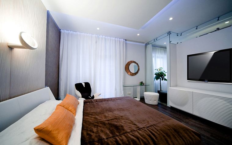 Квартира. спальня из проекта , фото №24924