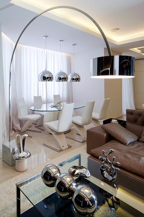 Квартира. столовая из проекта , фото №25892
